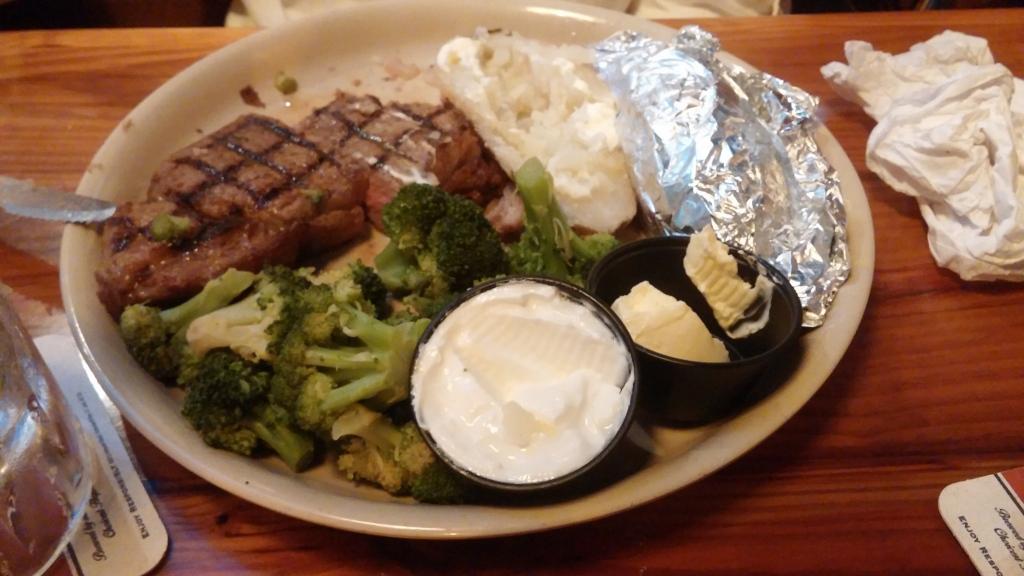 12 oz. choice rib-eye steak