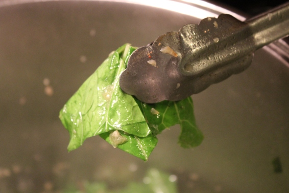 This green is not wilted - keep frying!